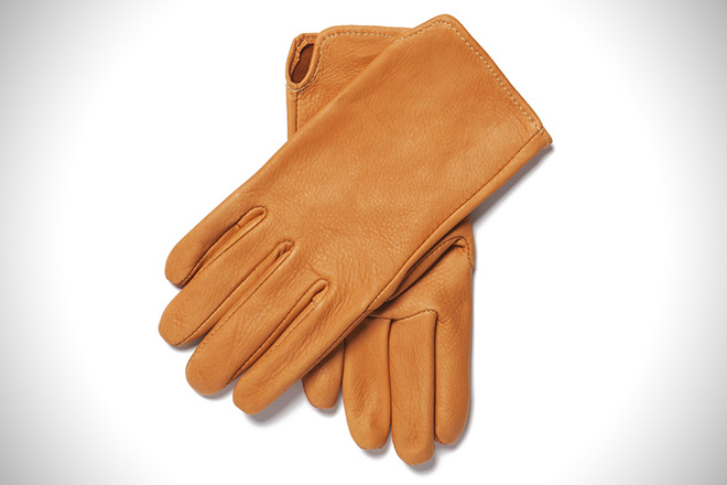 Sir Jack's Saddle Tan Deerskin Gloves