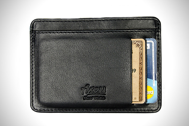 "Axess ""Smooth"" Vegetable Tanned Compact Wallet"